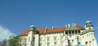 Side of wawel castle Stock Image