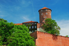 Krakow, Poland. Wawel Castle. Wawel castle, Krakow, Poland. The main tower facing the Vistula river Stock Images