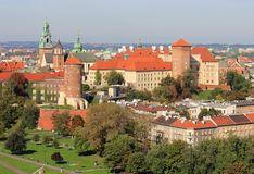 Krakow Poland - Wawel Castle Royalty Free Stock Photos