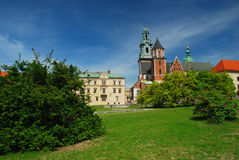 Krakow, Poland. Wawel castle and cathedral royalty free stock photography