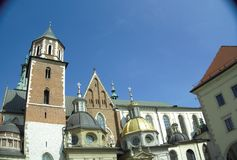 Domes of the cathedral Royalty Free Stock Images