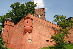 Krakow, Poland: Wawel Hill Defense Walls Stock Photo