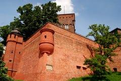 Krakow, Poland: Wawel Hill Defense Walls Stock Photo