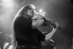 Krakow Polen December 20 2017, Eluveitie i konsert Royaltyfri Foto