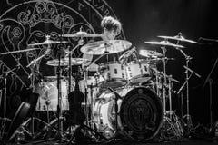 Krakow Polen December 20 2017, Eluveitie i konsert Royaltyfria Bilder