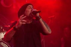 Krakow Polen December 20 2017, Eluveitie i konsert Arkivfoton