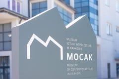 KRAKOW POLEN - JUNI, 2017: Mocak - museum av samtida konst i Krakow, Polen royaltyfria foton