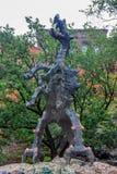 KRAKOW POLEN - JUNI, 2012: Wawel drake Arkivfoto