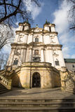KRAKOW POLEN - kyrka av den StStanislaus biskopen Arkivfoton