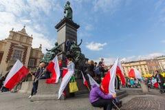 KRAKOW POLEN - nationsflaggadag av Republiken Polen Royaltyfria Bilder