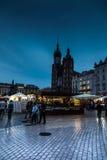 Krakow Polen - Oktober 2, 2016: Den gamla staden av Krakow, modern Royaltyfria Bilder