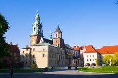 Krakow Polen Wawel arkivbild