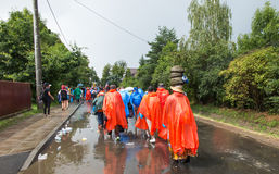 KRAKOW POLSKA, JUL, - 30, 2016: Niezidentyfikowani uczestnicy Worl Obraz Stock