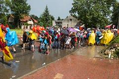 KRAKOW POLSKA, JUL, - 30, 2016: Niezidentyfikowani uczestnicy Worl Obrazy Stock