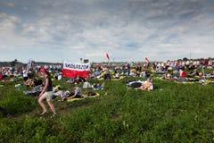 KRAKOW POLSKA, JUL, - 31, 2016: Niezidentyfikowani uczestnicy Worl Fotografia Stock