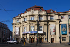 KRAKOW POLSKA, MARZEC, - 28, 2017: Budynek Krakow Filharmoniczny Zdjęcie Royalty Free