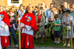 KRAKOW, POLSKA - Podczas świętowania uczta Corpus Christi Zdjęcia Royalty Free