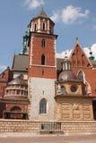 Krakow poprzedni kapitał Polska - Wawel katedra fotografia stock