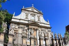 Krakow punktu zwrotnego kościół święty Peter i Saint Paul fotografia royalty free