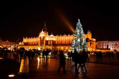Krakow quadrado Imagem de Stock Royalty Free