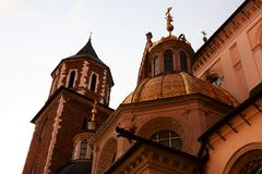 Krakow. The Royal Archcathedral Basilica of Saints Stanislaus and Wenceslaus on the Wawel Hill Stock Photo