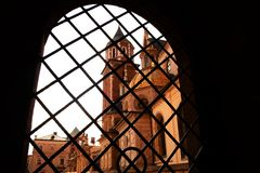 Krakow. The Royal Archcathedral Basilica of Saints Stanislaus and Wenceslaus on the Wawel Hill Royalty Free Stock Photo