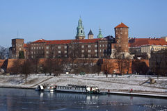 Krakow - Royal Castle - Wawel Hill - Poland Royalty Free Stock Photography
