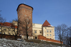 Krakow - Royal Castle - Wawel Hill - Poland Royalty Free Stock Images