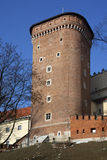 Krakow - Royal Castle - Wawel Hill - Poland. The Senatorska Tower at the Royal Castle on Wawel Hill in the city of Krakow in Poland stock photography