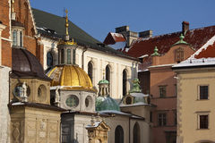 Krakow - Royal Cathedral - Wawel Hill - Poland Royalty Free Stock Photography