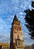 Krakow, Runok market square, City Hall Clock Tower Stock Image