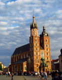 Krakow, Runok market square, St. Mary's Basilica Royalty Free Stock Images