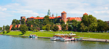 The Krakow's castle Stock Photography