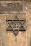 Krakow's Jewish district. Star of David on the wall of historic Kazimierz, Krakow Royalty Free Stock Images