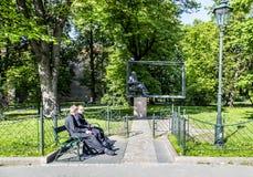 Krakow's monument of Jan Matejko Stock Images
