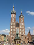 Krakow, basilica of Saint Mary Stock Photo
