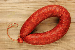 Krakow sausage Royalty Free Stock Images