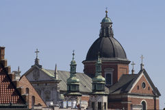 Krakow sky line Stock Photography