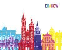 Krakow skyline pop Stock Images
