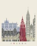 Krakow skyline poster Stock Image