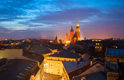 Krakow skyline Royalty Free Stock Photos