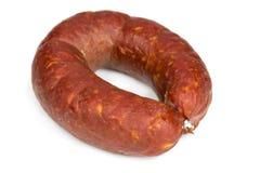 Krakow smoked sausage Stock Image