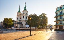 Krakow, square Matejko with the churches of St. Florian, Poland Stock Photo