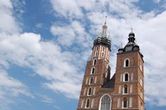 Krakow - St.Mary's Church Royalty Free Stock Photo