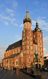 Krakow. Poland - June 19. St Marys church in the s market square, Poland Royalty Free Stock Photo