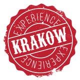 Krakow stamp rubber grunge Stock Photos