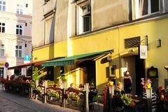 Krakow street cafe Stock Images