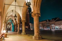 Krakow Sukiennice Place Stock Photo