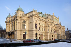 Krakow - teatro de Slowacki - Poland Imagem de Stock