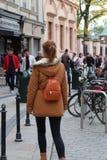 Krakow travel woman Europe street stock photos
